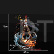 Pt Studio One Piece Red Hair Shanks Resin Statue Pre-order 1/4 Scale Led Light