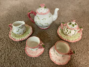 Childrens Tea Set Ceramic By Milson And Louis Hand Painted
