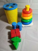 Vintage Fisher Price Baby Toys Ring Sorter And Shape Sorter
