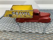 """Vintage Sand And Gravel Truck 10"""" Unknown Maker"""