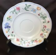 Villeroy And Boch Mariposa Saucer 5 7/8 Flower Butterfly Germany 2 Available