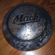 Vintage 1940and039s 50and039s 60and039s Mack Truck Center Cap Dog Dish Hubcap
