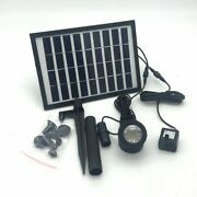 Solar Panel Battery 5w Water Pump Landscape Fountain Dive Light Booster Electric