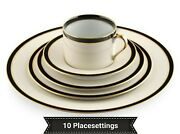 10 Placesettings Vintage Fitz And Floyd Montmartre Porcelain China Set 50 Dishes