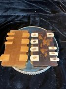 Antique Lacquer And Bone Whist Cards Game Counter Japanese Shibayama Set Of 2