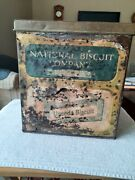 1910s Country Store Display Tin National Biscuit Company- Uneeda Biscuit Large
