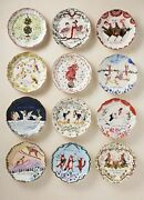 Inslee Fariss 12 Days Of Christmas Platescomplete Setnib-sold Out-
