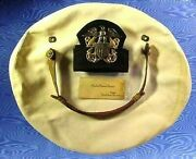 Wwii Us Navy Officer Visor Black Hat Band And Bullion Band W/ Siver Eagle-w/cover