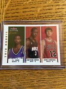 2003 Fleer Tradition Crystal Trio Dwayne Wade Ford Hinrich 05/50 Gold Rc Rookie