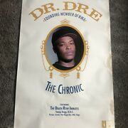 """Rare Dr. Dre """"the Chronic"""" Promo Poster Death Row Records 1992 💨"""