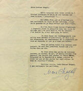 Marc Chagall - Typed Letter Signed 03/12/1957