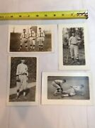 4 Vintage Real Photo Baseball Players Post Card Lot, Unknown Players Postcard X4