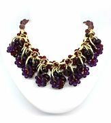 Choker Necklace With Cluster Of Pearls Resin Purple Burgundy Art. E91238