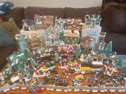 Dept. 56, Snow Village, Lot Of 16 Houses And 100 Acessories