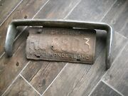 1950and039s Gm Bumper Grille License Plate Guard