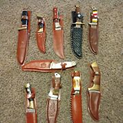 Vintage Collection Of Hunting Knives - 10 Knives Lot Nice Free Shipping