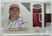 2016 Mike Trout Topps Dynasty Autograph Patches 5 Apmt6 2/5