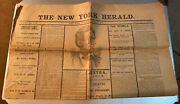 1880's Reproduction Of New York Herald April 15, 1865 Lincoln Killing