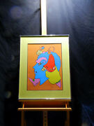 Peter Max -self Portrait 1971 Lithograph 50/300 Signed
