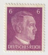 1941-1945 Germany - Hitler - New Daily Stamps - 6 Pfg Stamp Purple