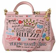 Dolce And Gabbana Bag Womenand039s Pink Amore Shoulder Purse Borse Satchel Sicily