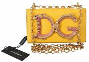 Dolce And Gabbana Bag Women's Yellow Leather Shoulder Borse Logo Iphone X Cover