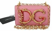 Dolce And Gabbana Bag Women's Pink Leather Shoulder Borse Phone Cover