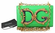 Dolce And Gabbana Bag Women's Green Leather Shoulder Borse Logo Iphone X Cover