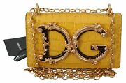 Dolce And Gabbana Bag Women's Yellow Leather Shoulder Logo Iphone X Cover Case