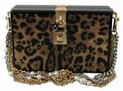 Dolce And Gabbana Bag Womenand039s Brown Leopard Shoulder Box Wood