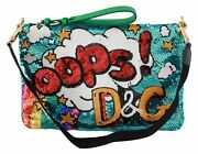 Dolce And Gabbana Bag Womenand039s Multicolor Cartoon Sequined Hand Clutch Purse
