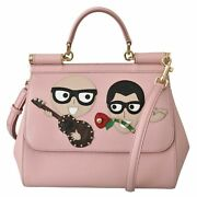 Dolce And Gabbana Bag Women's Pink Leather Dgfamily Borse Satchel Hand Sicily