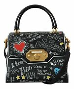 Dolce And Gabbana Bag Womenand039s Black Leather Dg Heart Crossbody Welcome Purse