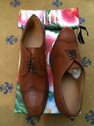 New Mens Shoes Brown Leather Lace Up Uk 9 Us 10 Eu 43 Tiger Oxford