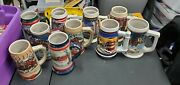 Budweiser Holiday Stein Lot Of 10