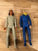 Vintage Marx Johnny West Action Figures. General Custer And Geronimo - Lot