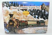 Vintage Greatland Holiday Express Battery Operated Train Set Red 1996 Edition