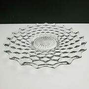 Fostoria American Clear 12'' Platter Round Plate.free Shipping