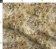 Grass Wild Animals Leopard Cheetah African Spoonflower Fabric By The Yard