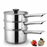 Double Boiler And Steam Pots For Melting Chocolate Candle Making And More - Sta...