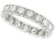 1.62ct Diamond And 18ct White Gold Full Eternity Ring - Vintage French 1940s