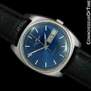 1960and039s Ulysse Nardin Vintage Mens Full Size Ss Steel Watch - Mint With Warranty