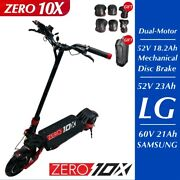 Zero 10x Electric Scooter 10inch Dual Motor 52v 2000w 65km/h High Speed Off Road