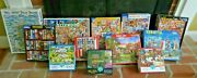 Lot Of 12 Puzzles - White Mountain Puzzles, Buffalo Puzzles