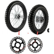 19 And 16 Dirt Pit Bike Front Rear Wheel Set 70/100-19 90/100-16 Tire Rim Crf100