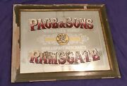 A Rare Antique 1800's Page And Sons Liquor London Ramsgate England Mirror Sign