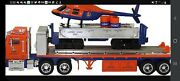Lionel Tmt-18418 Flatbed Toy Truck And Operating Helicopter Car. New In Box