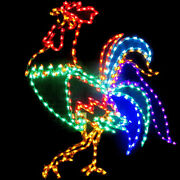 Animated Rooster Outdoor Led Yard Art Garden Summer Christmas Farm Display
