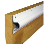 Dock Edge 1133-f C Guard Pvc Dock Profile 4-6and039 Sections White