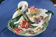 Fitz And Floyd Large Swan Tulip Soup Tureen 11.5 Tall 14 Long 9 Wide